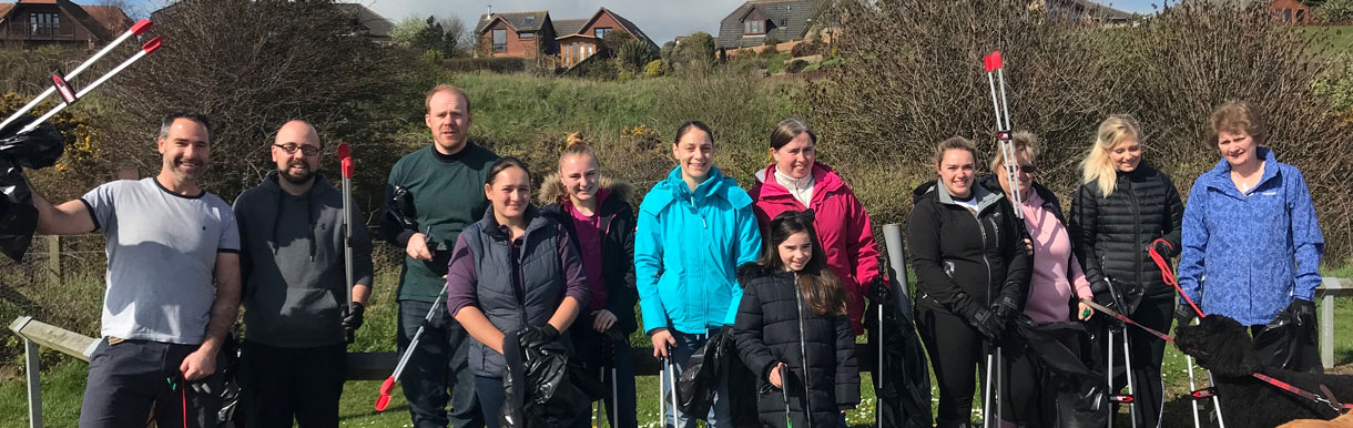 Albavet help keep Seafield Beach clean